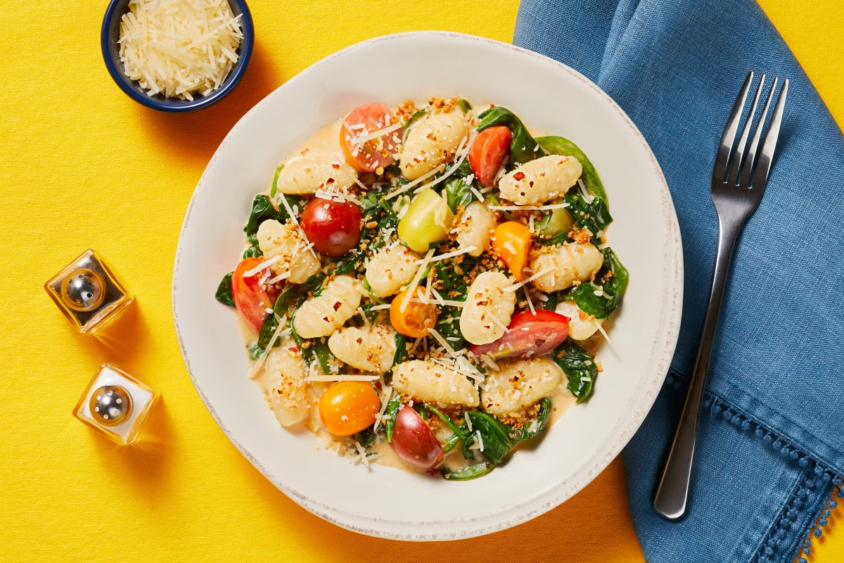 Gnocchi with Spinach & Tomatoes