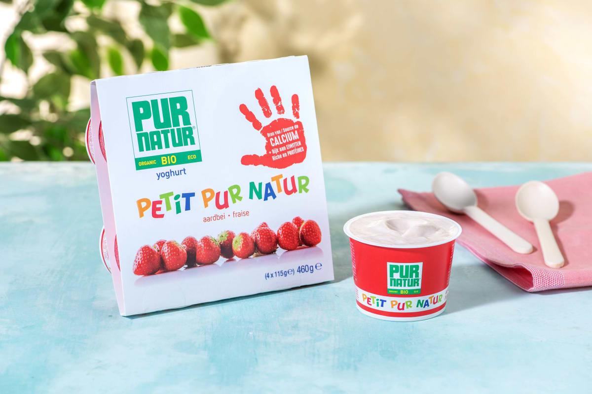 Pur natur - Yaourt fraise pour enfants
