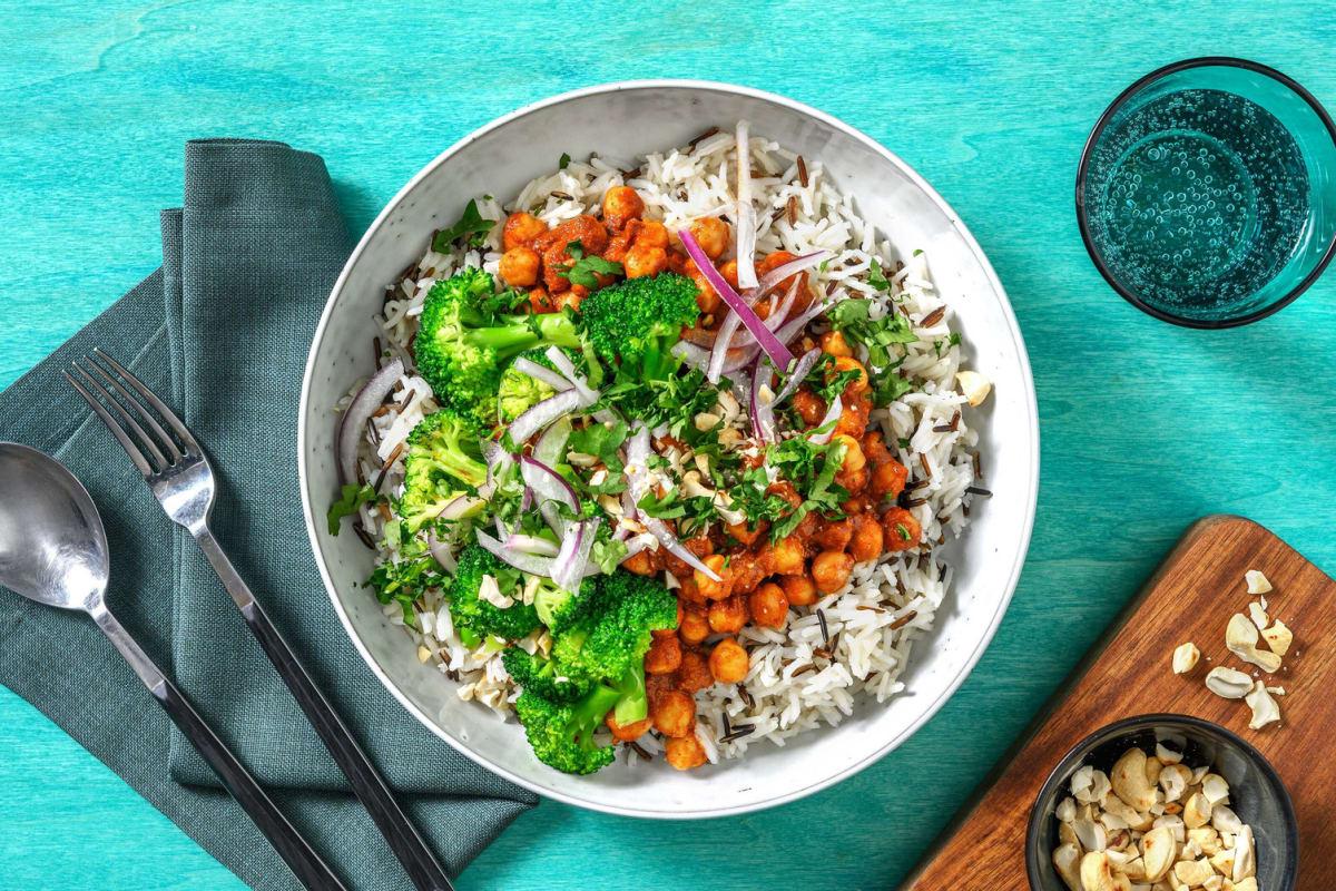 Chana Masala! Kichererbsen-Curry mit Koriander