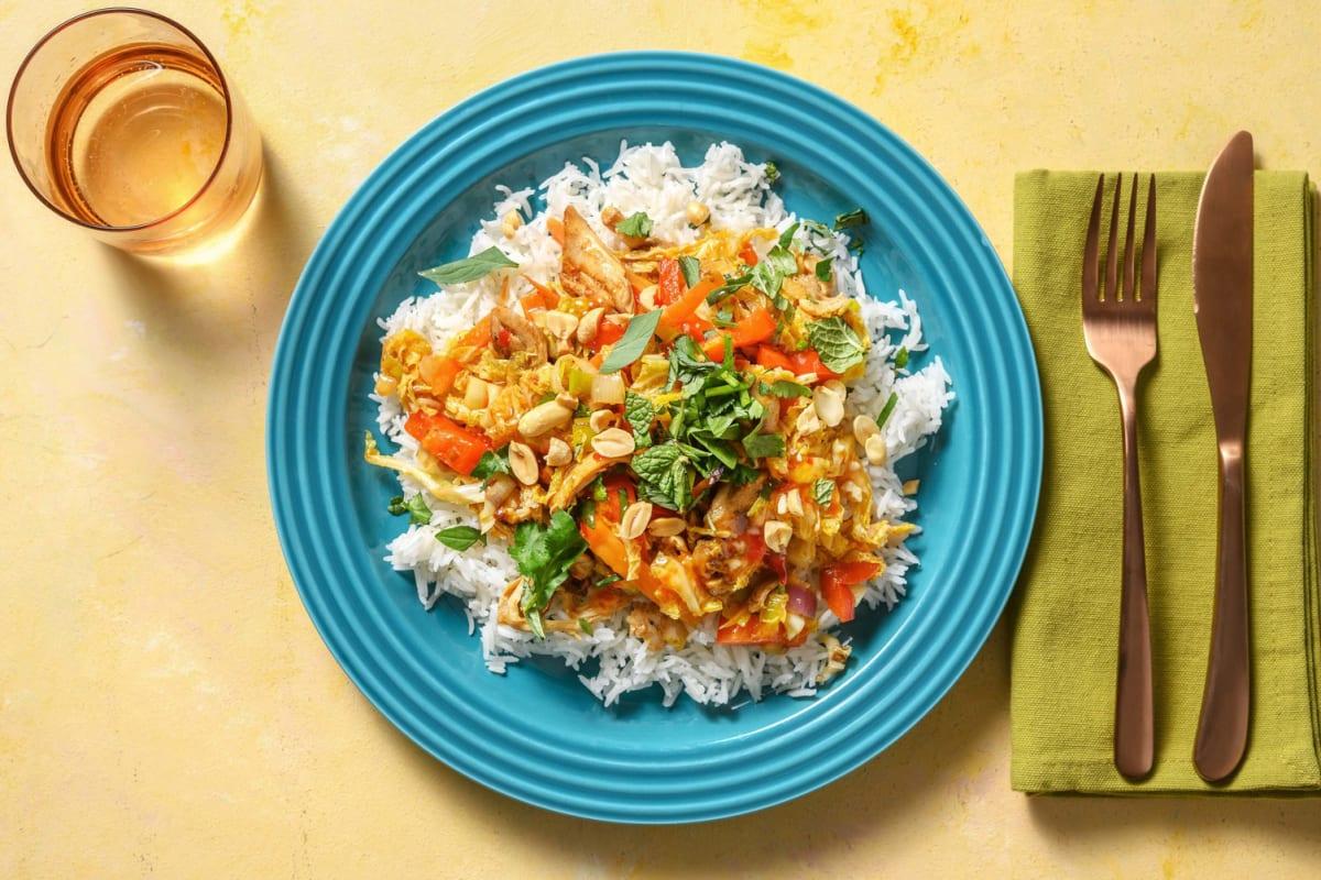 Cuisse de poulet à la vietnamienne et riz