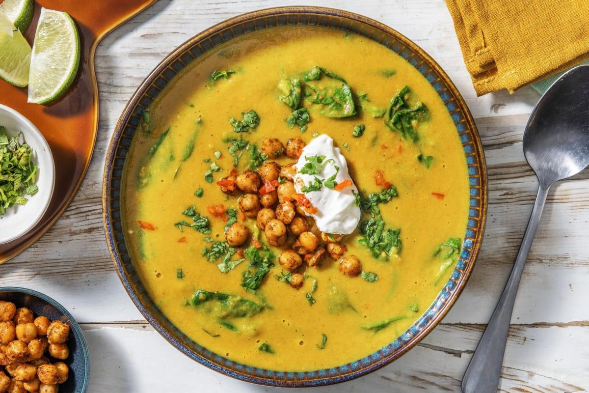 Indische Kichererbsen-Kokos-Suppe