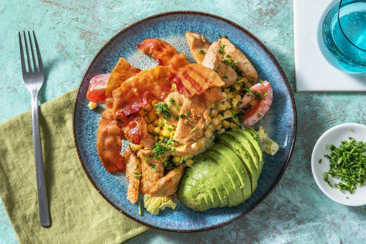 American Salad! mit Hähnchen, Bacon & Avocado