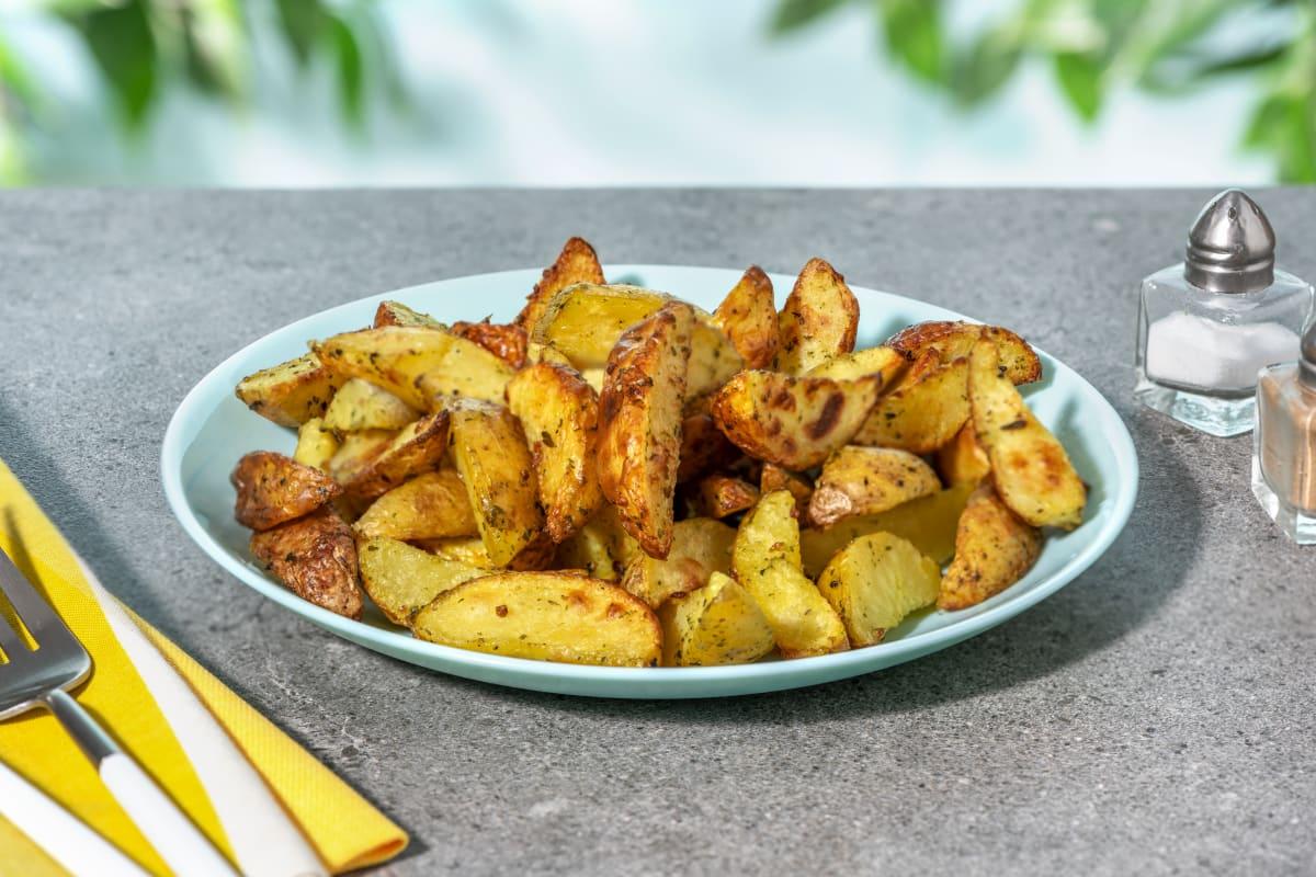Quartiers de pommes de terre aux épices BBQ