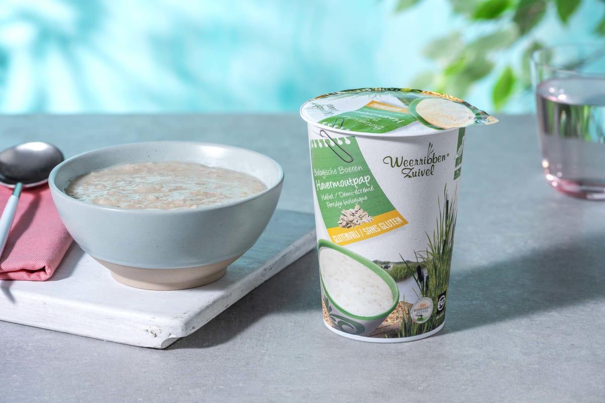 Porridge aux flocons d'avoine biologique