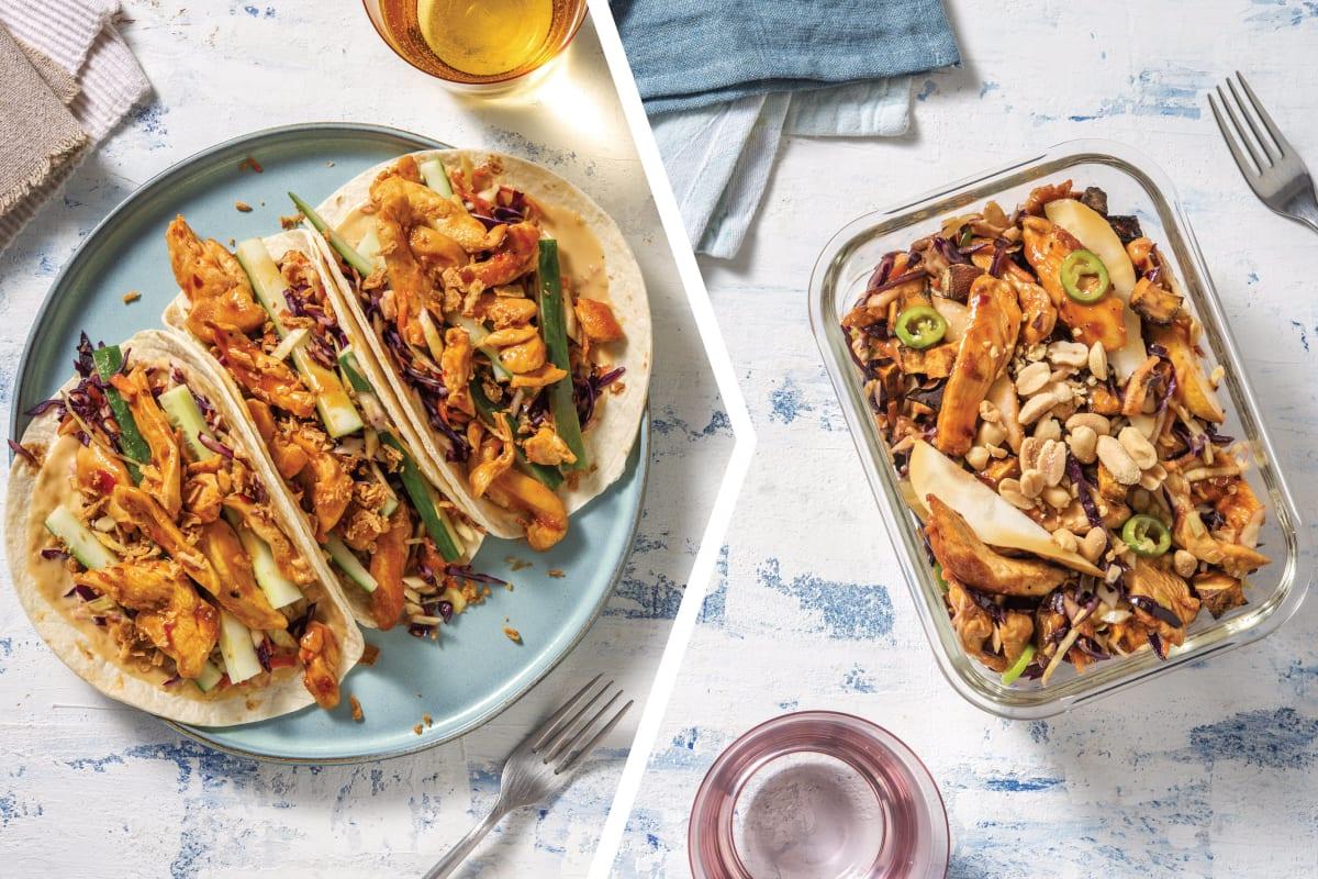 Asian Chicken Tacos & Crispy Shallots for Dinner