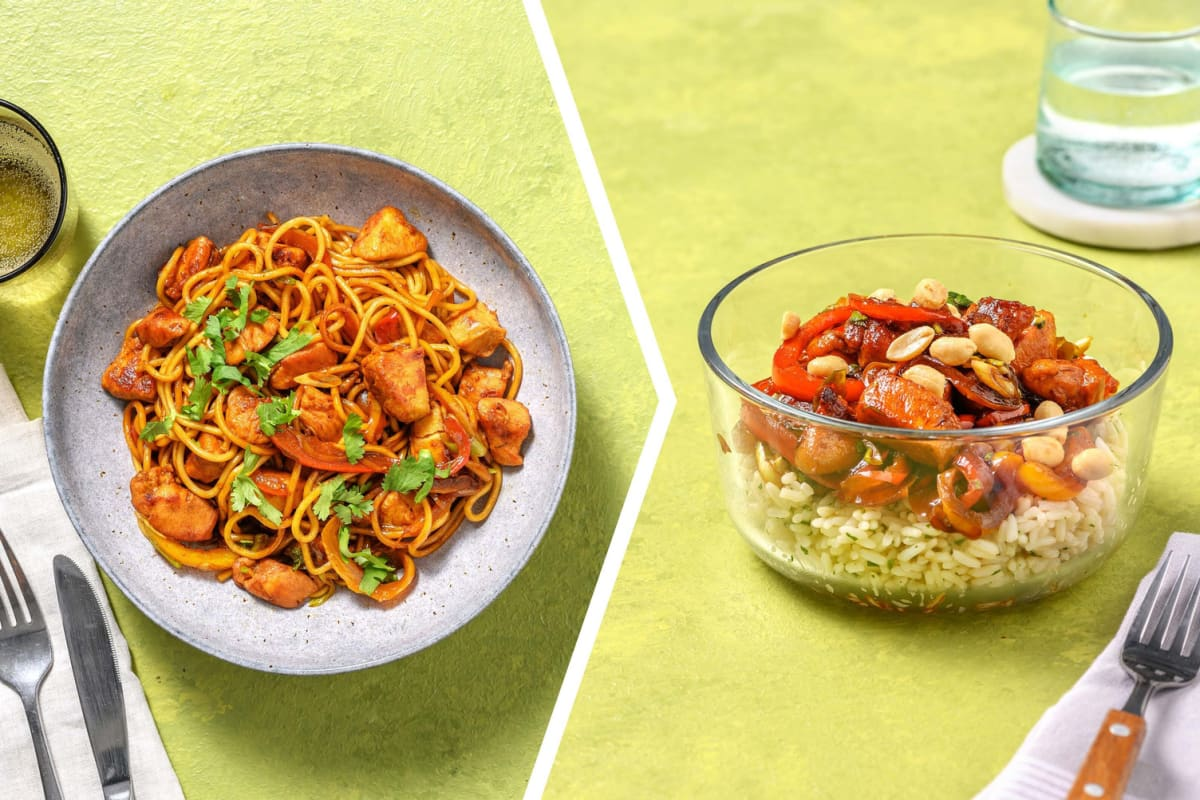 Thai Style Chicken & Bell Pepper Noodle Dinner