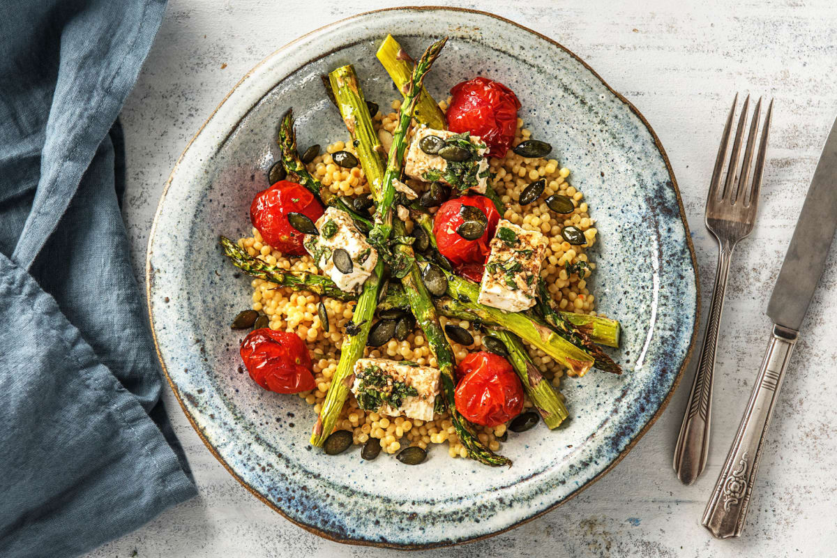 Herby Asparagus and Tomato Bake