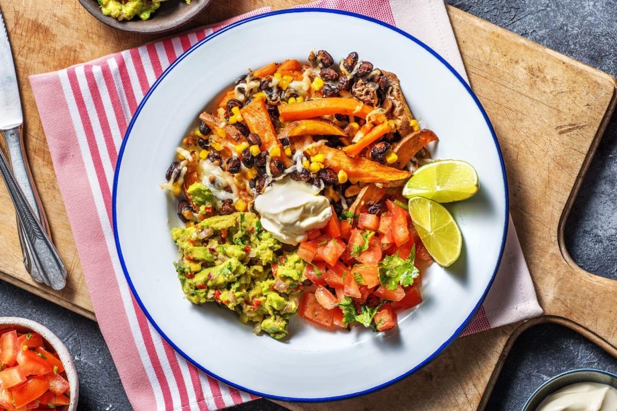 Vegetarische kapsalon met Mexicaanse twist