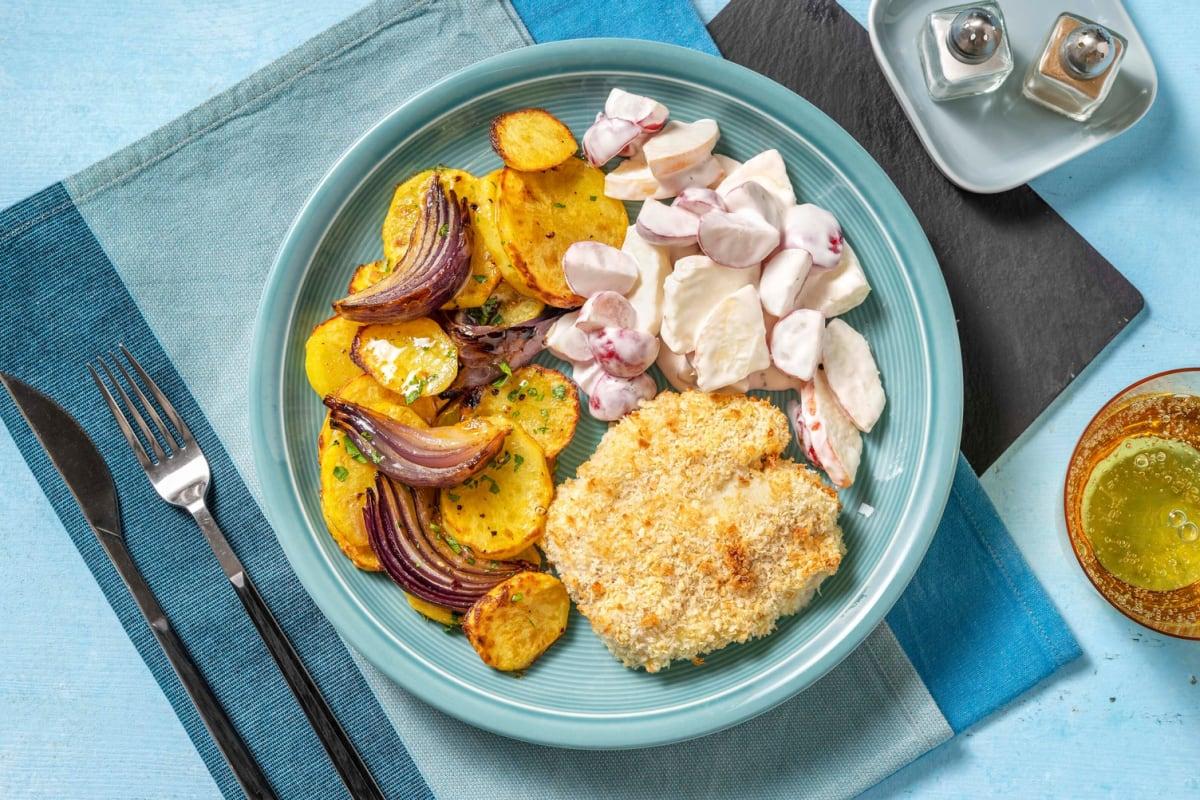 Backfisch mit Apfel-Radiesli-Salat