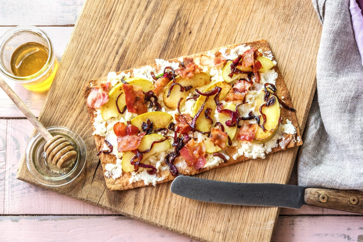 Bacon Apple Breakfast Flatbreads
