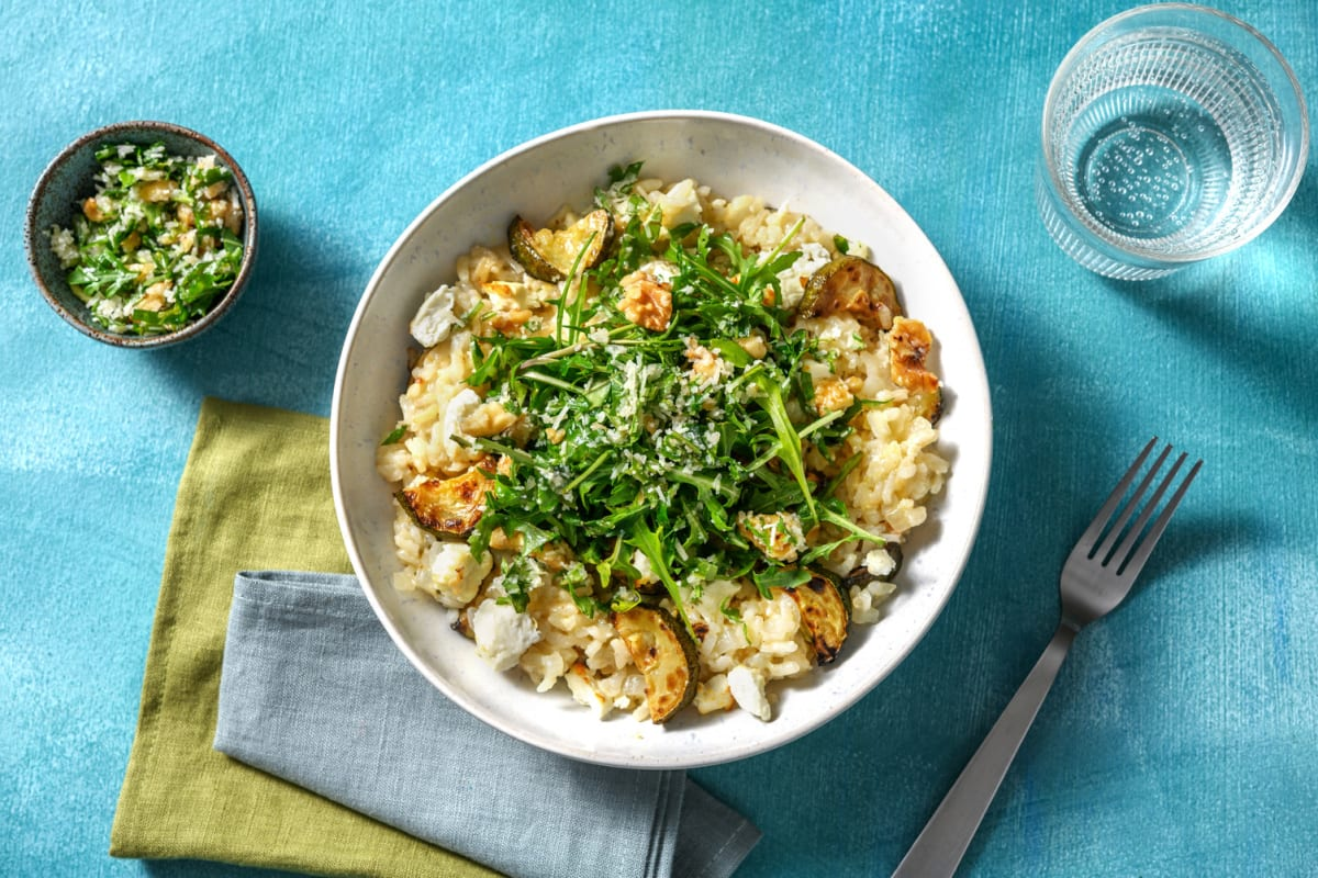 Baked Courgette & Goat's Cheese Risotto