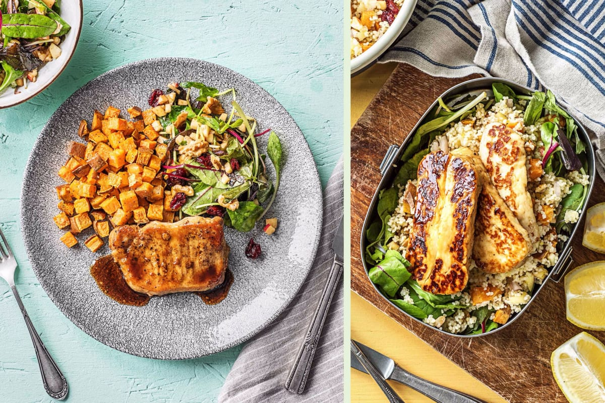 Balsamic-Glazed Pork Chop Dinner