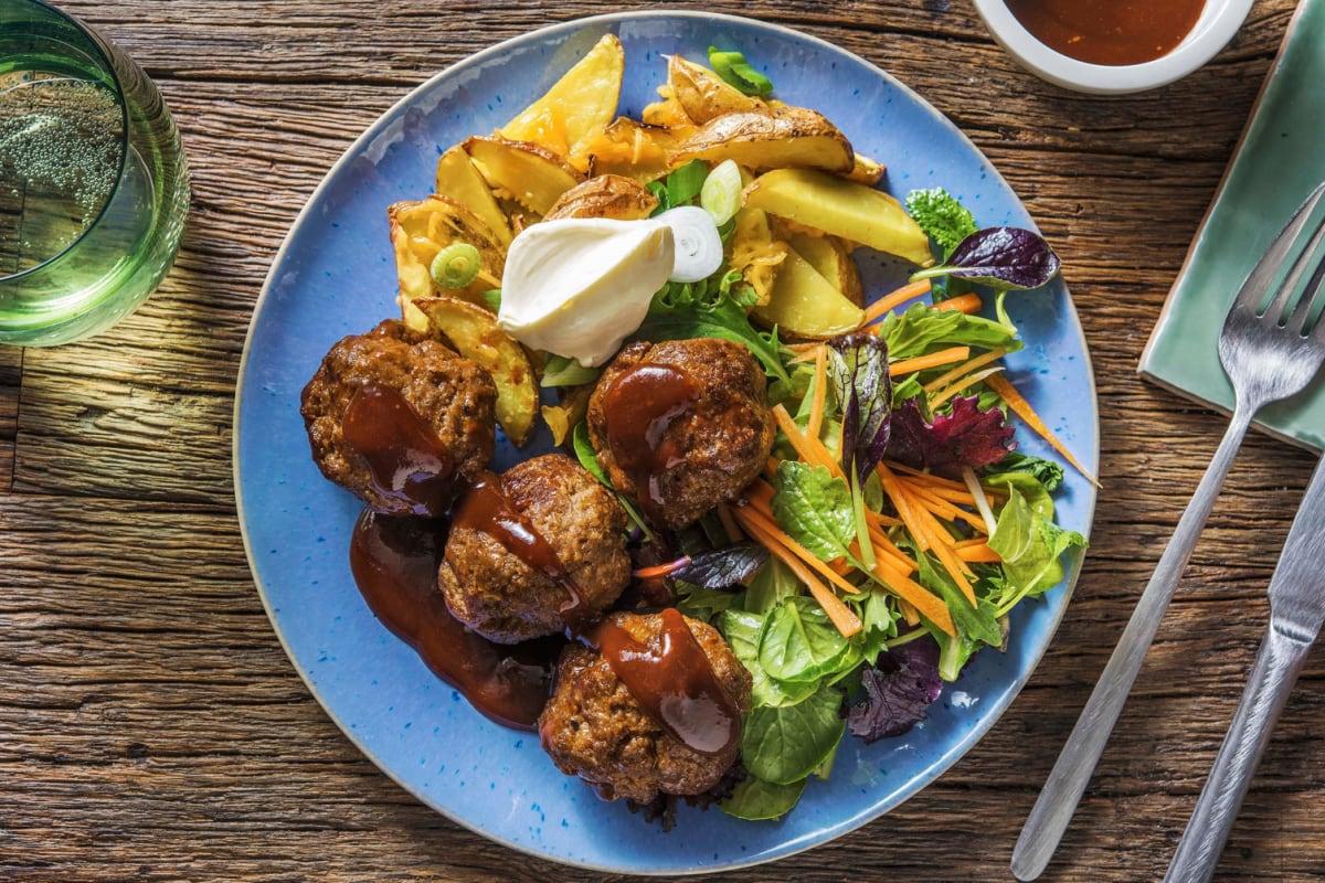 Glazed Beef Meatballs