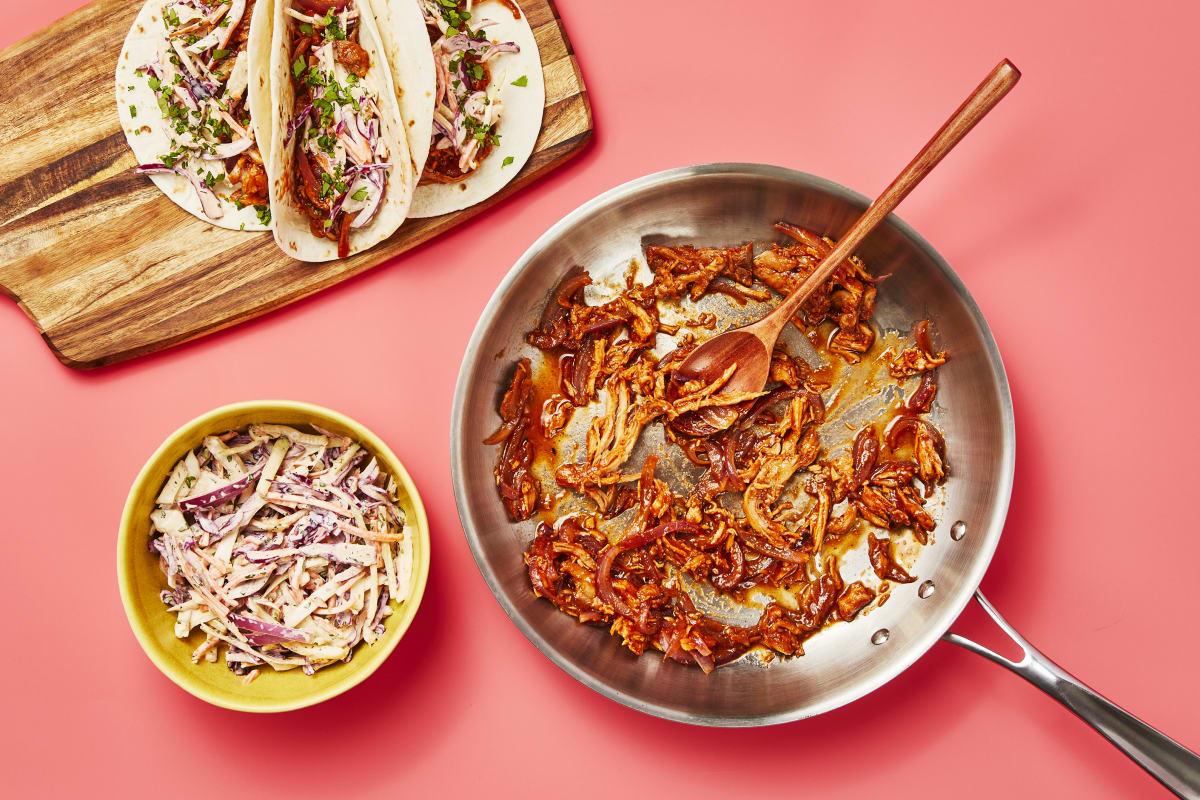 Bbq Pulled Chicken Tacos Recipe Hellofresh