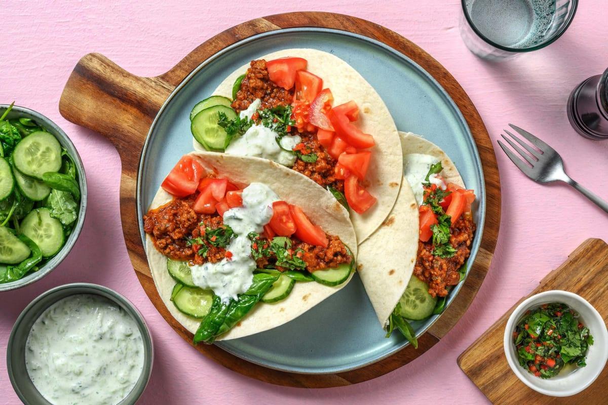 Beef Masala Tacos