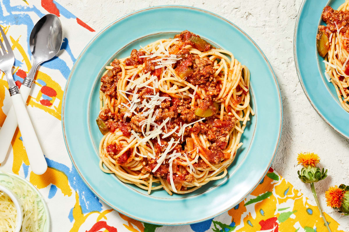 Quick Beef Ragù Spaghetti