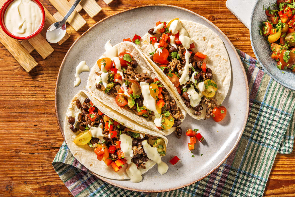 Beyond Meat® and Black Bean Tacos