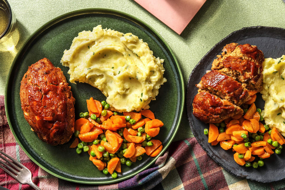 Veggie Meatloaf with Beyond Meat®, Mash and BBQ Sauce