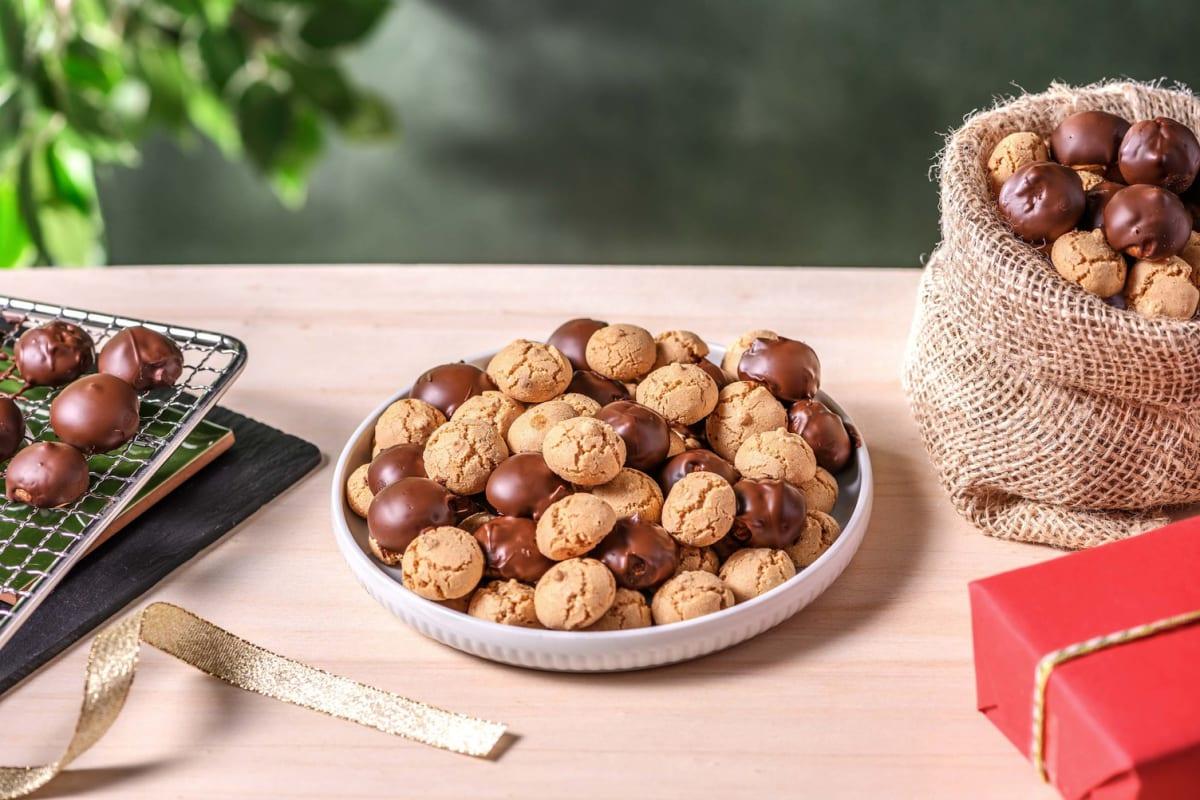 Kruidnoten : sablés saveur spéculoos enrobés de chocolat