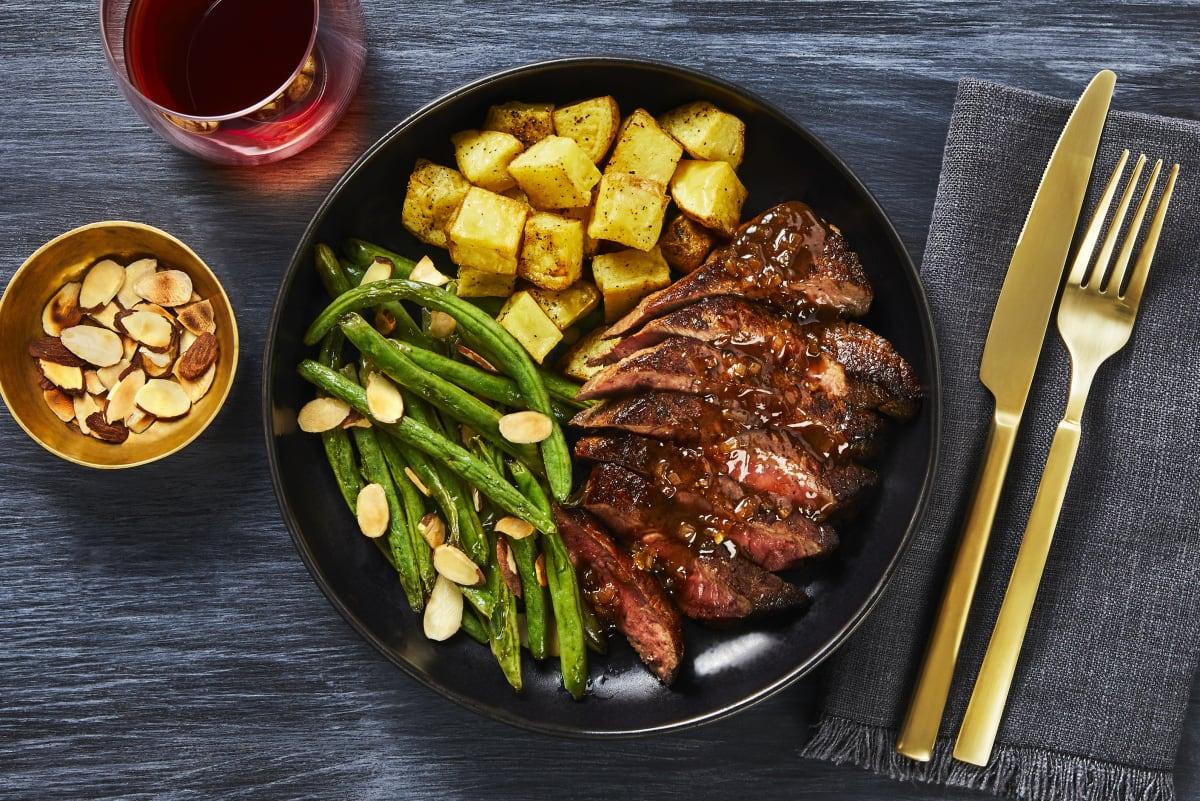 Bisteccha con Fichi (Steak with Fig Sauce)