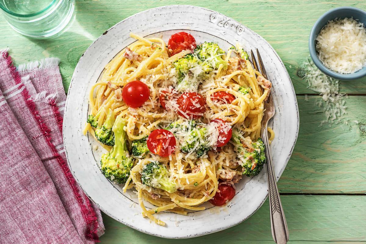 Pasta nach Carbonara Art
