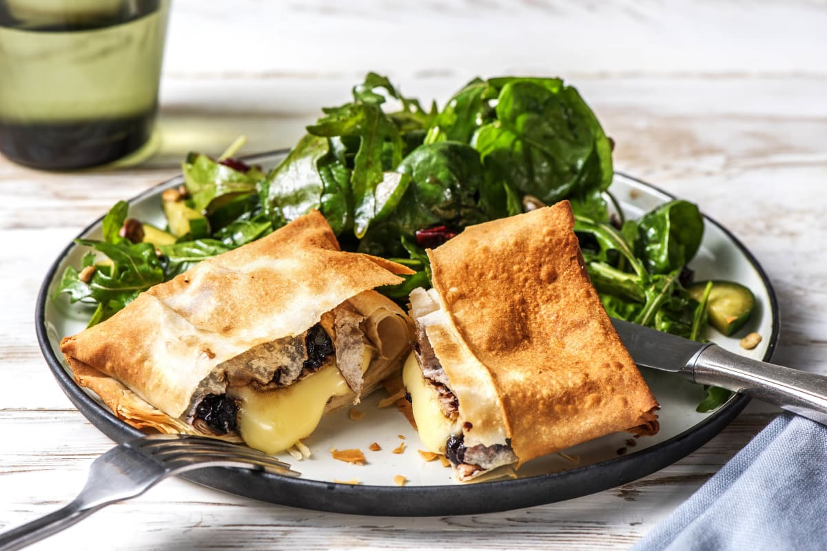 Blueberry-Balsamic Baked Brie in Phyllo
