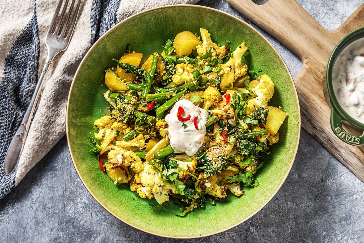 Indian-Spiced Potato & Cauliflower
