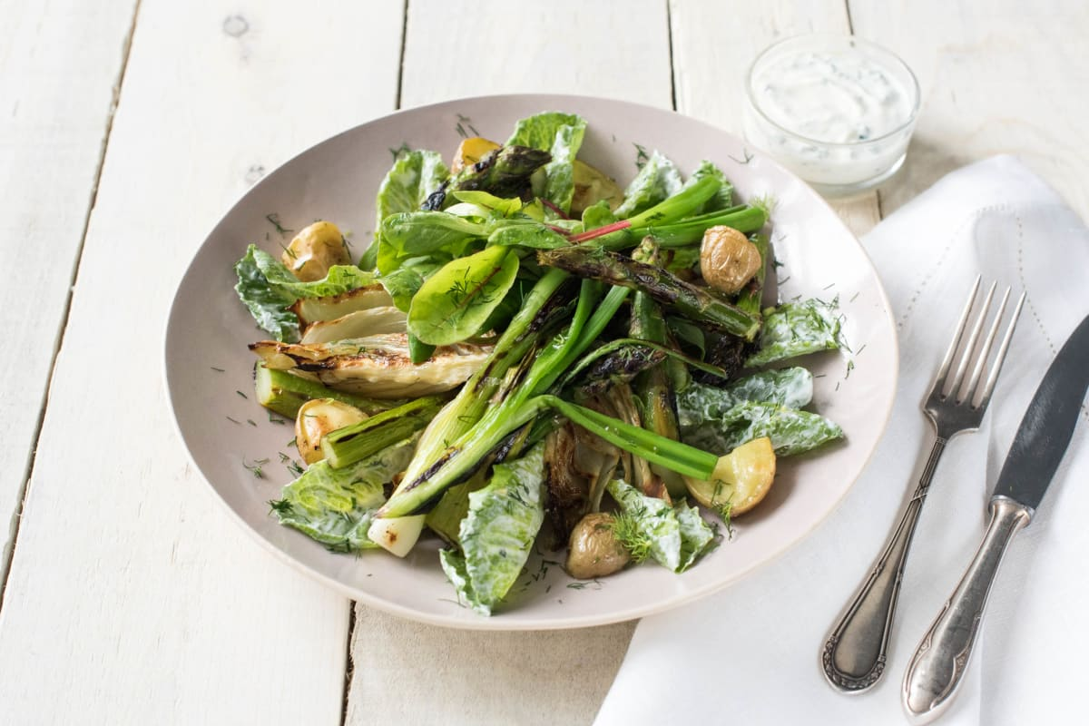British Summer Salad with Asparagus, Chives and Fennel