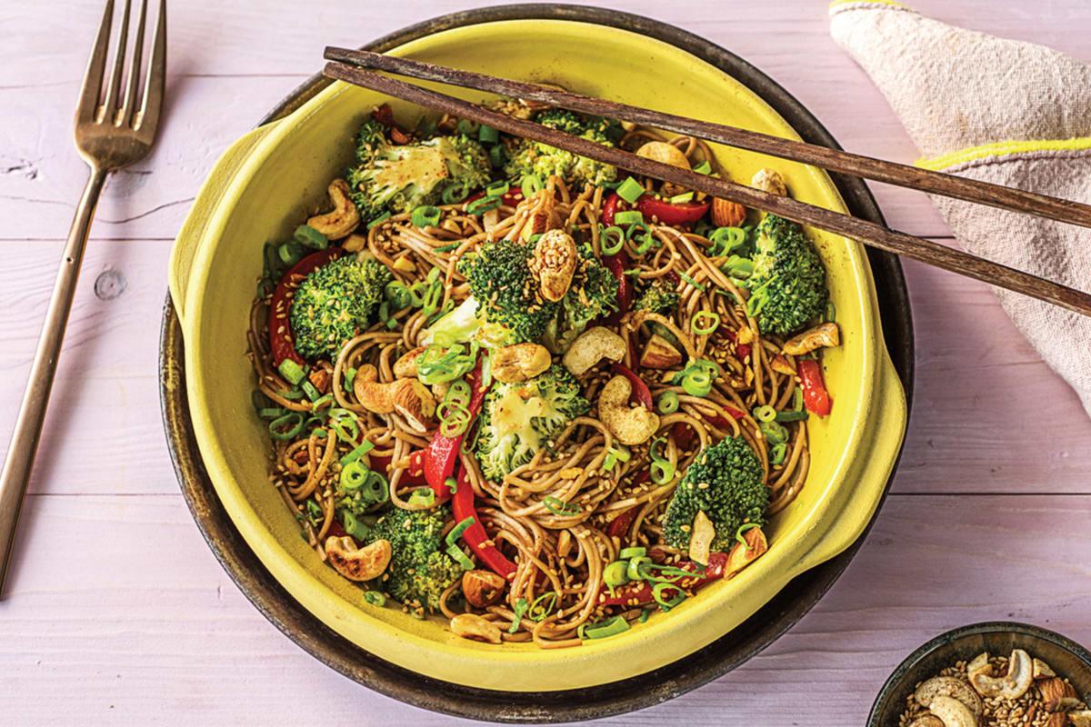 Broccolini, Ginger and Sesame Soba Noodle Bowl