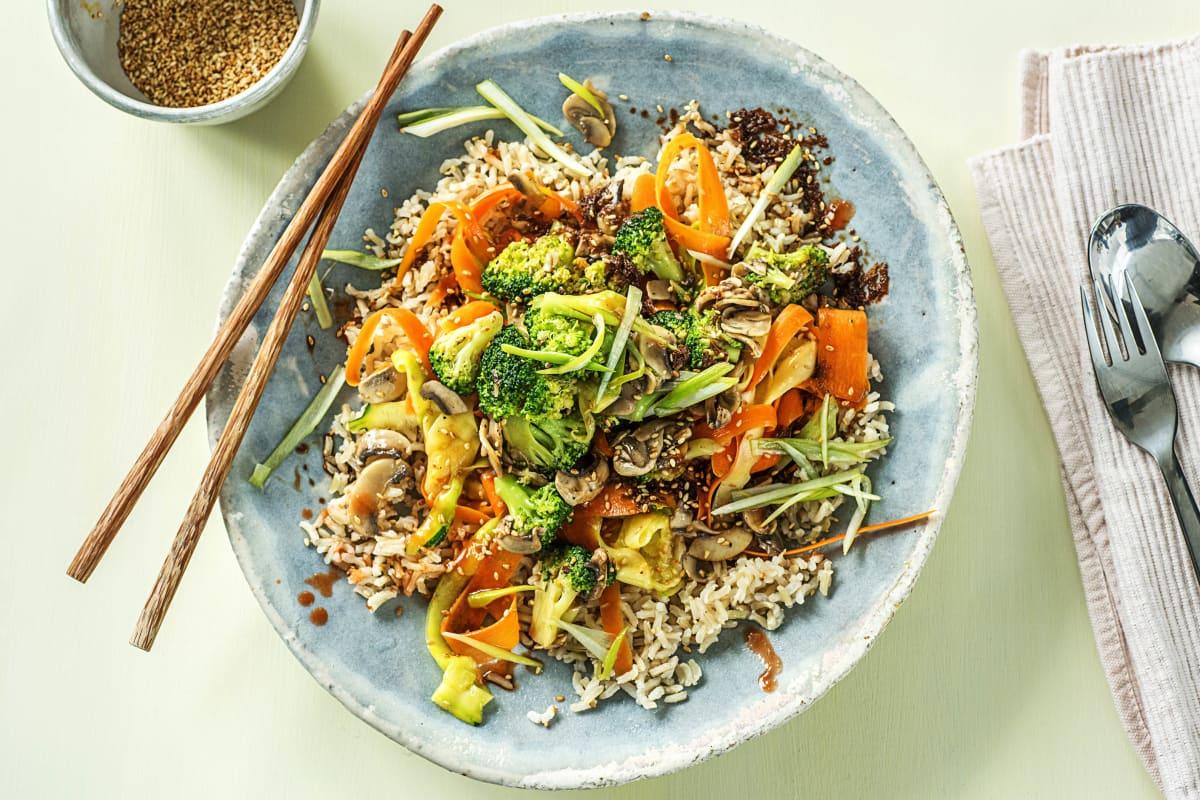 Brown Rice Bibimbap