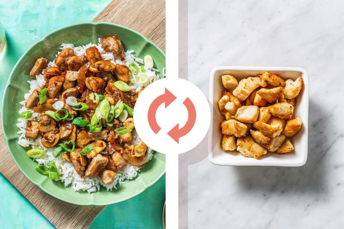 Bulgogi Chicken and Mushroom Stir Fry
