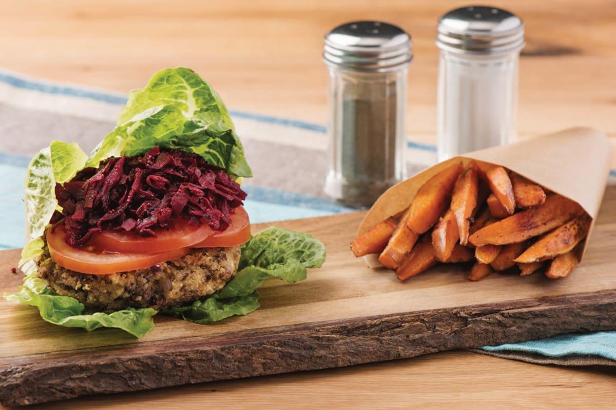 Bunless Lentil & Fetta Burgers