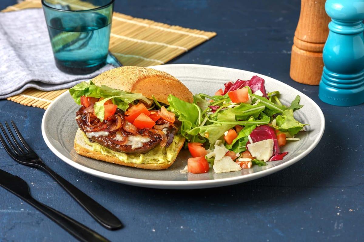 Broodje hamburger met Italiaanse twist