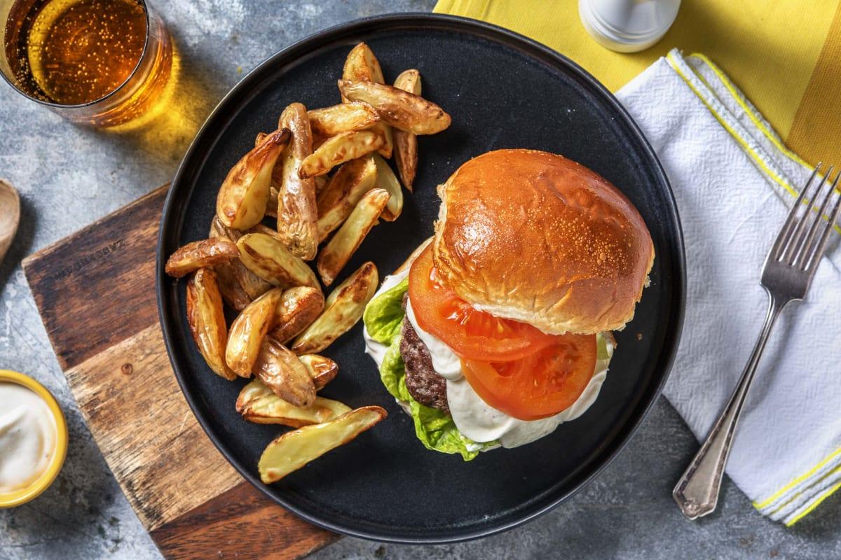 Burger aus Hackfleisch und Champignons