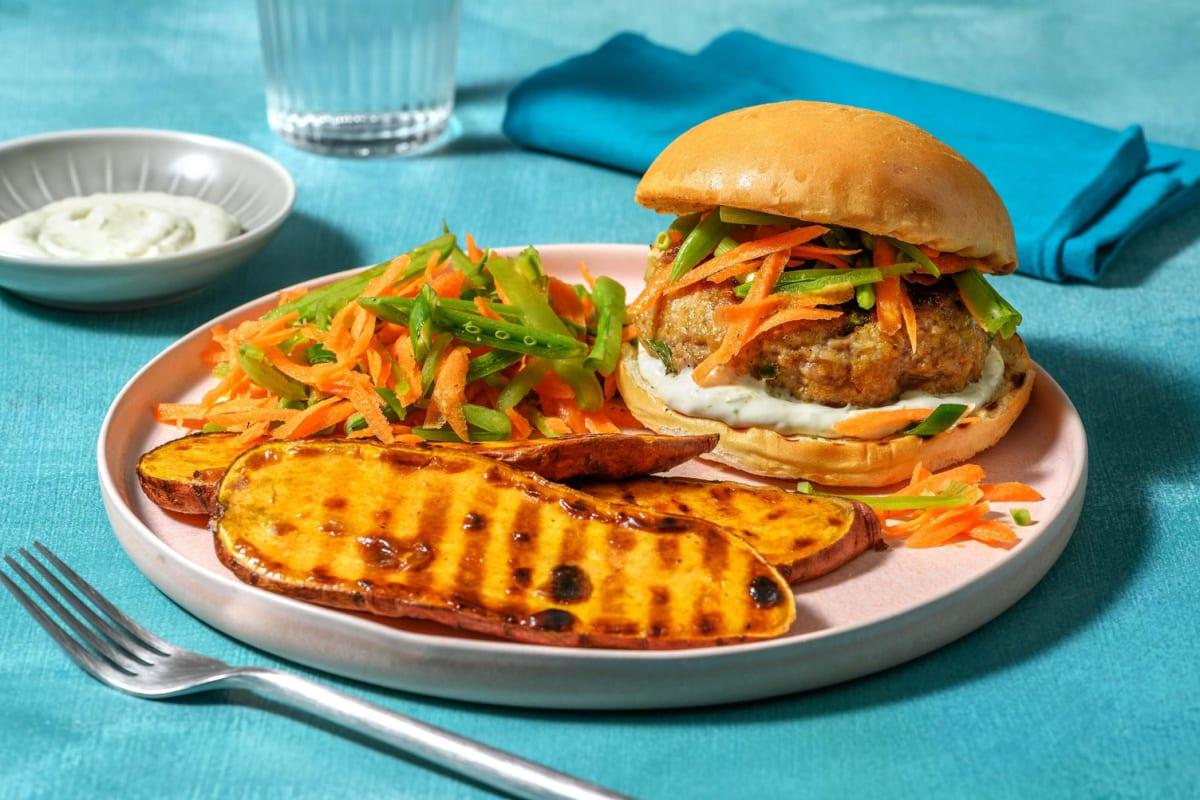 Gyoza-Style Burger