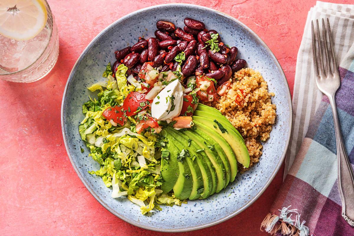 Burrito Bowl! Tomaten-Quinoa