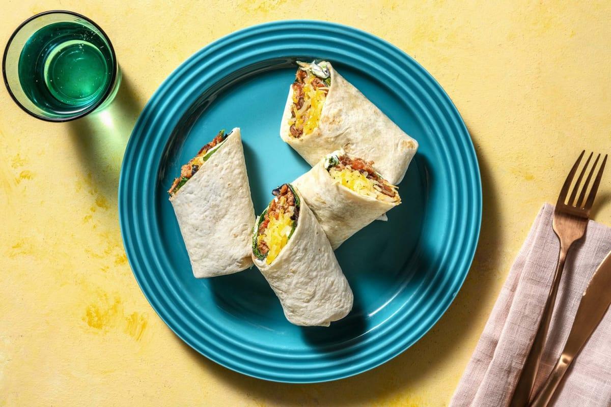 Burritos mit BBQ-Hackfleisch