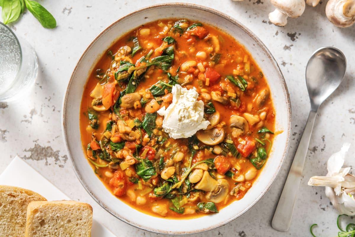 Butter Bean & Mushroom Stew