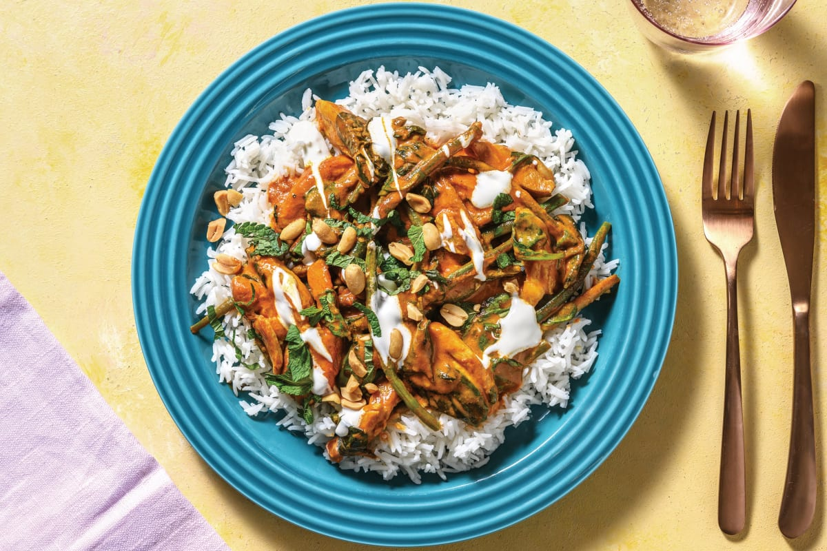 Butter Chicken Curry with Roasted Peanuts
