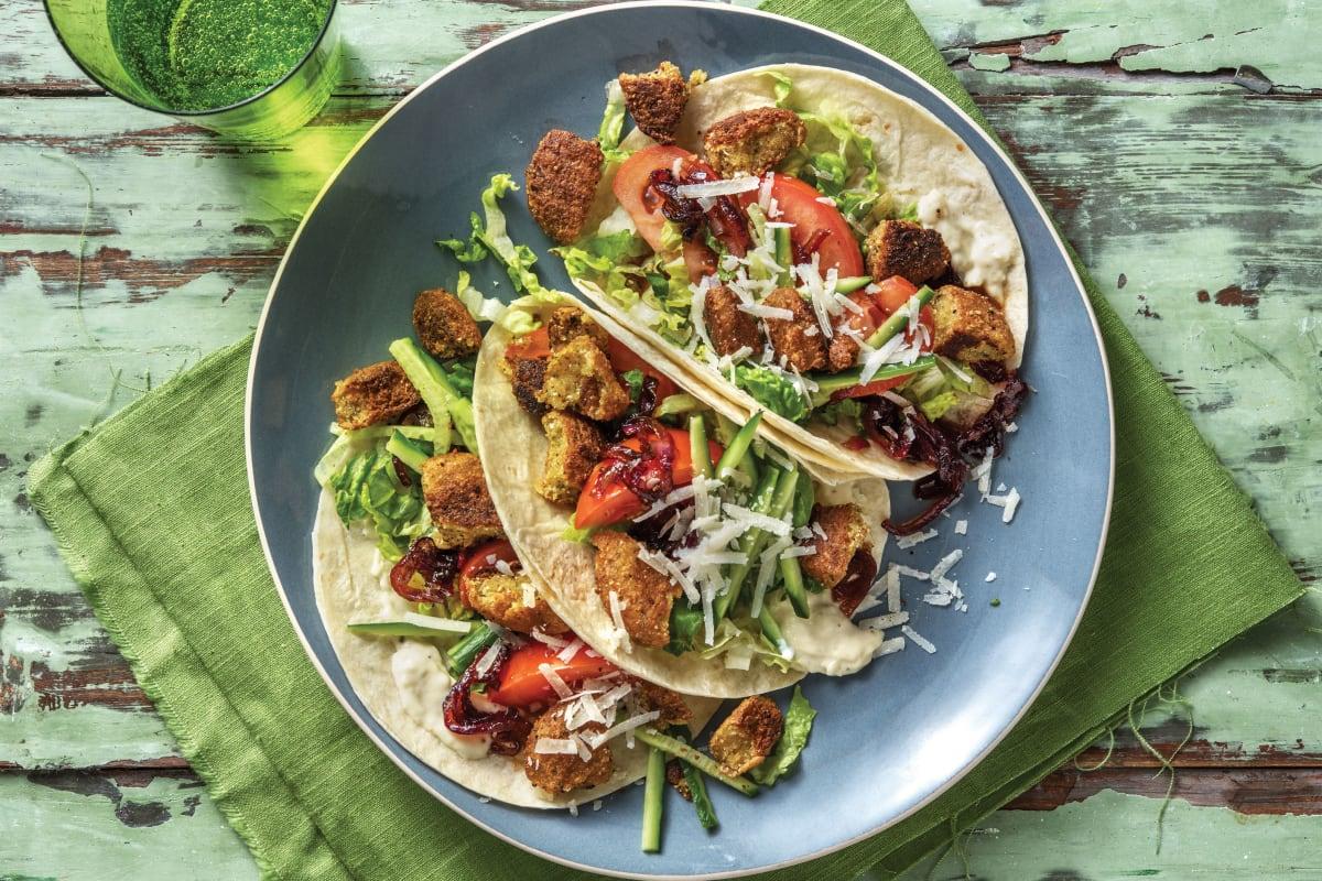 Caesar-Style Falafel Tacos