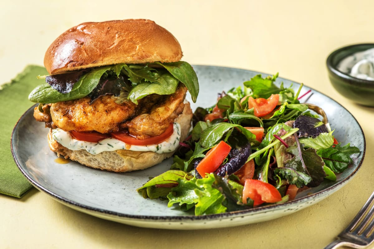 Cajun-Spiced Chicken Burger