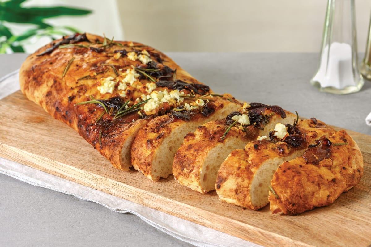 Onion, Feta & Rosemary Focaccia