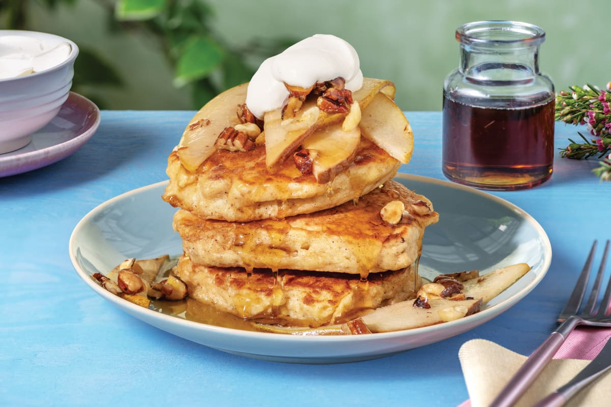 Caramelised Pear & Pecan Pancakes