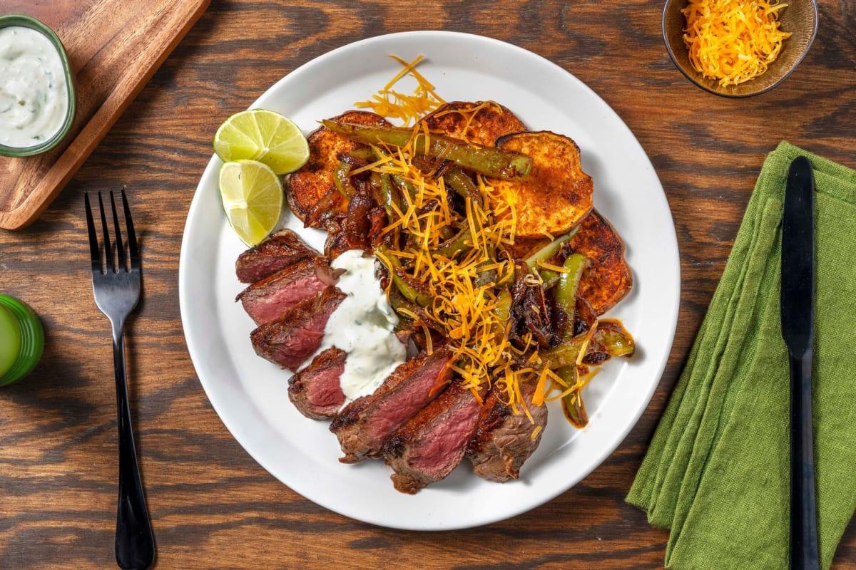 Carb Smart Steak Fajita Plate