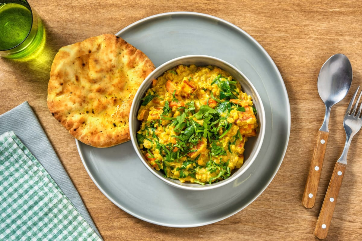 Paneer and Lentil Coconut Curry