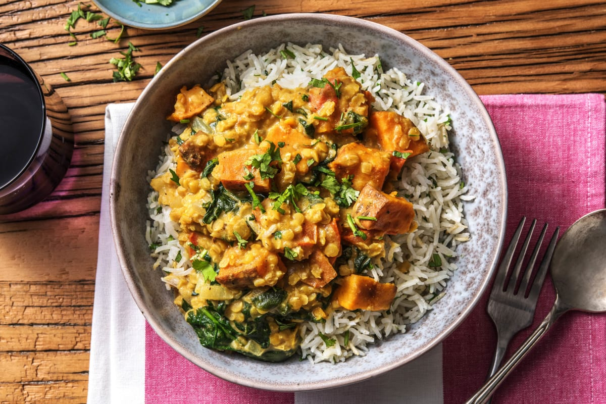 Red Lentil and Sweet Potato Curry