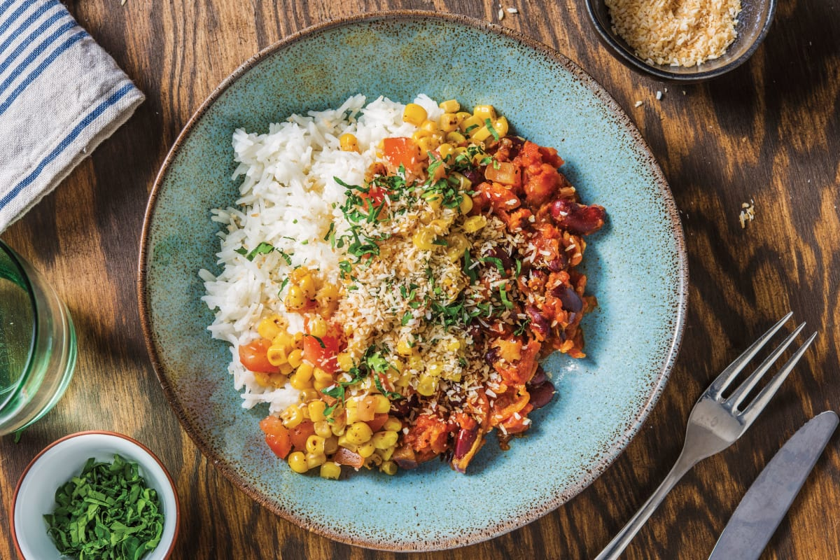 Caribbean Bean Chilli Bowl