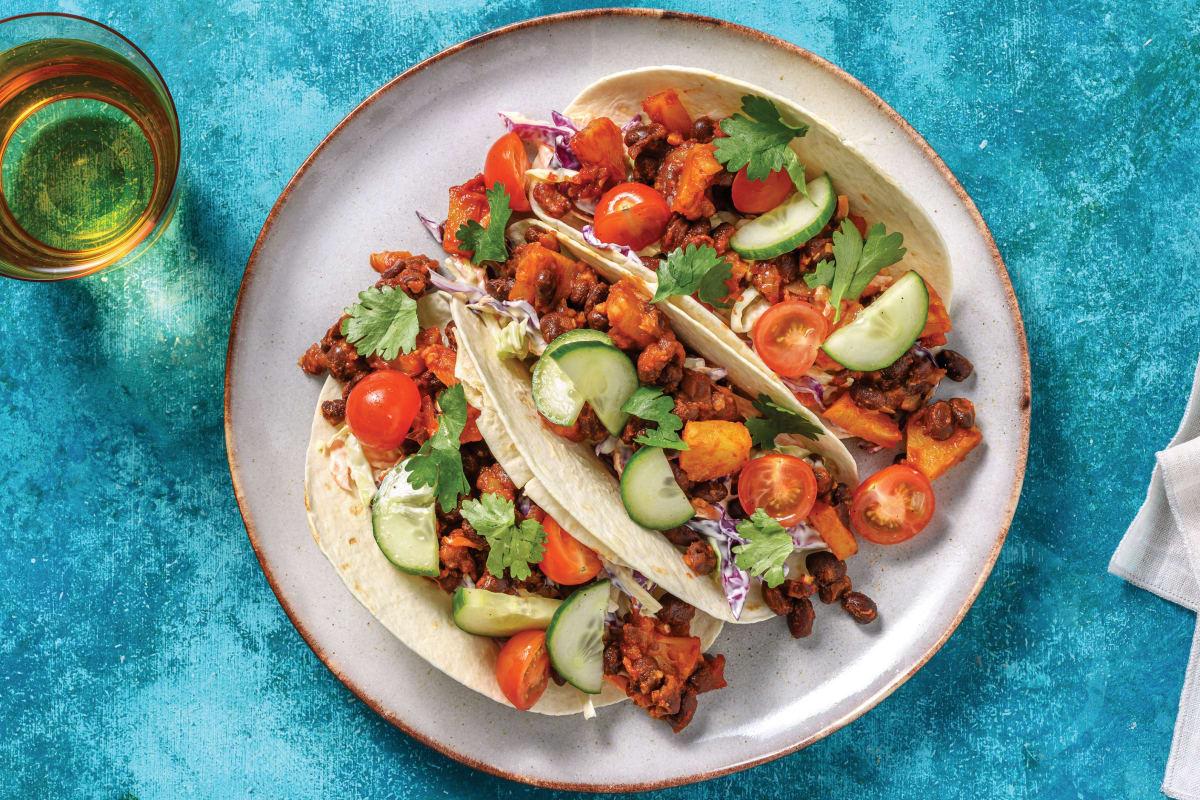 Quick Black Bean & Pineapple Tacos