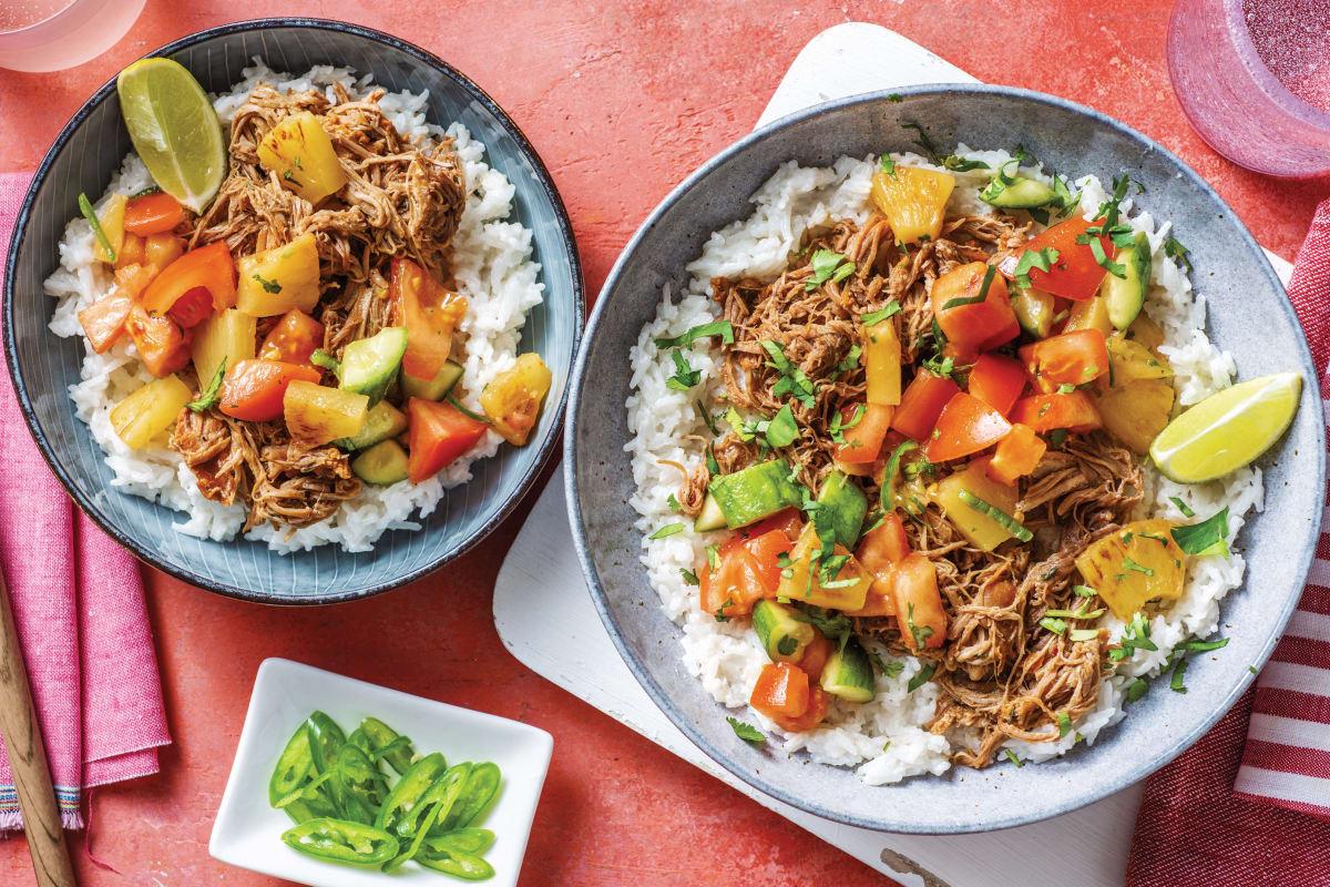 Caribbean Pulled Pork Bowl