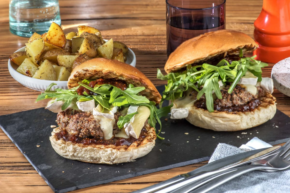 Cheesy Brie and Beef Burgers